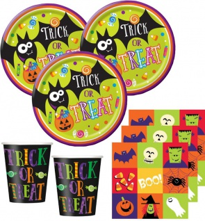 34 Teile Halloween Freunde Party Deko Set für 8 Kinder