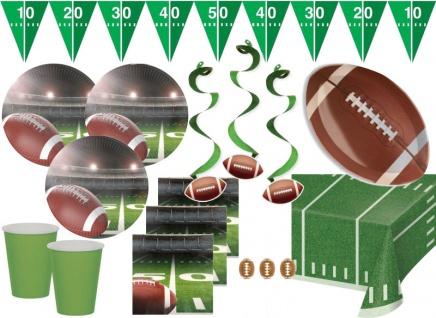 XXL American Football Superbowl Party Deko Set 8 Personen