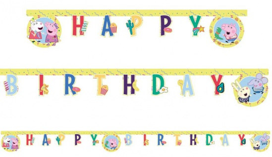 Geburtstags Girlande Peppa Wutz