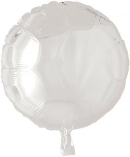 Folien Ballon Rund in Weiß 45cm