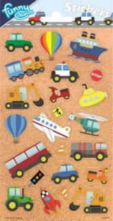 1 Bogen Fahrzeuge Papier Sticker
