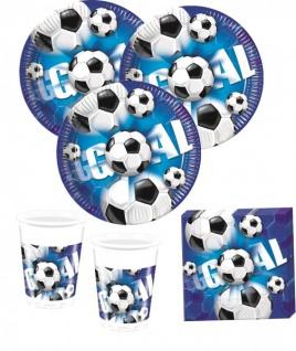 40 Teile Fußball Party Deko Set Blau 10 Personen