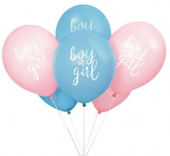 6 Luftballons zur Babyparty Junge oder Mädchen?