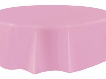 Runde Plastik Tischdecke Baby Rosa