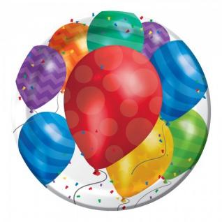 32 Teile bunte Ballons Geburtstags Party Deko Set für 8 Personen - Vorschau 2