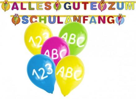 Girlande + 5 Luftballons zum Schulanfang