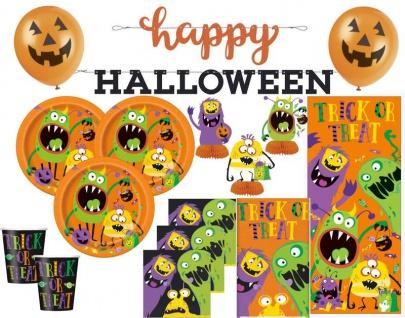XXL 44 Teile Halloween Deko Set kleine Monster für 8 Kinder