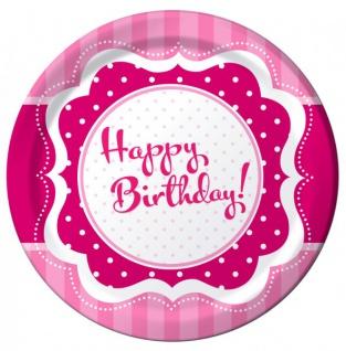 58 Teile zum 18. Geburtstag Party Set Perfectly Pink für 16 Personen - Vorschau 2
