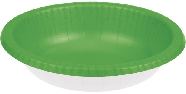 20 Schalen in Limonen Grün aus Pappe 590 ml