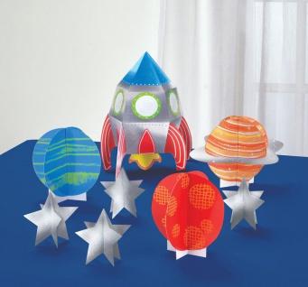 Tischaufsteller Set Weltraum bunte Planeten