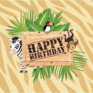 16 Geburtstags Servietten Safari Abenteuer