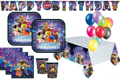 XL 44 Teile Lego Movie 2 Abenteuer im Weltraum Party Deko Set 8 Kinder