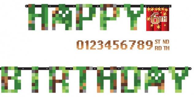 TNT Pixel Party Geburtstags Girlande