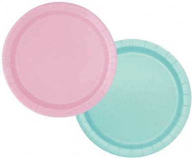 102 Teile Party Deko Set Baby Rosa Pastell Mint für 30 Personen - Vorschau 2