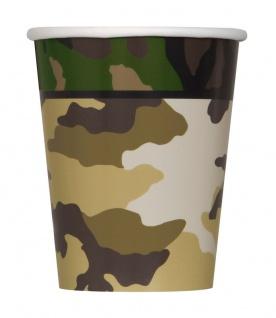 32 Teile Camouflage Party Deko Set für 8 Personen - Vorschau 3