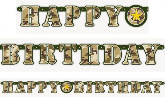 Camouflage Geburtstags Girlande