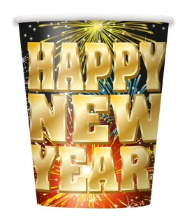 8 Becher Happy New Year