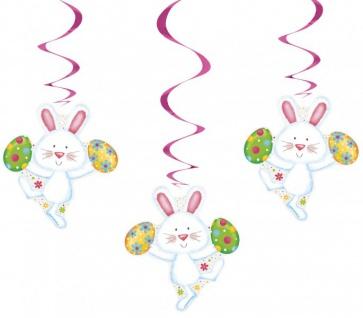 3 hängende Girlanden Hasen Spaß
