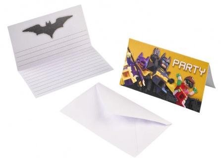 8 Lego Batman Einladungskarten