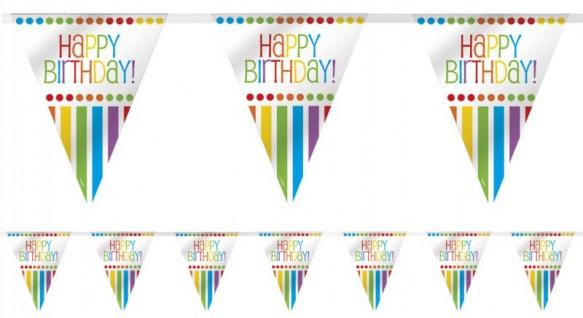 Wimpelgirlande zum Geburtstag Regenbogen