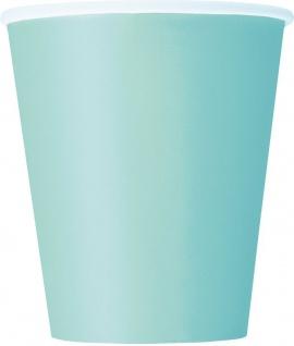 50 Teile Party Deko Set Pastell Mint für 14 Personen - Vorschau 3