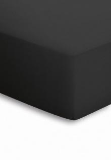 Mako-Jersey Spannbetttuch schwarz