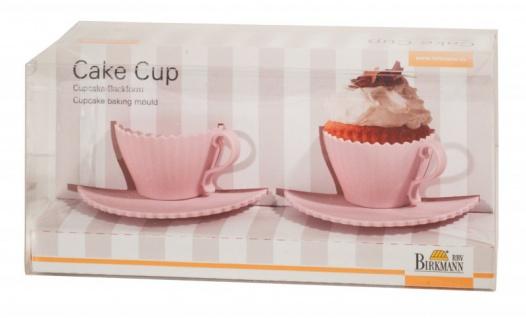 2 Tassenförmige Cupcake Back- & Servierformen