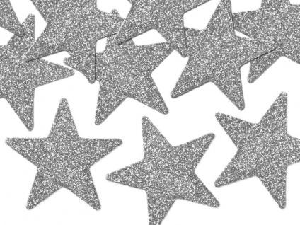 8 kleine Gitzer Sterne in Silber