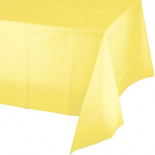 Plastik Tischdecke Pastell Gelb