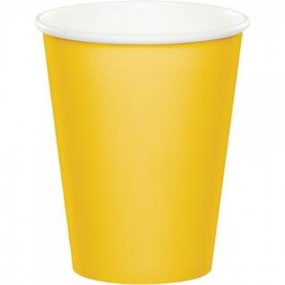 36 Teile Party Deko Set Sonnen Gelb für 8 Personen - Vorschau 4