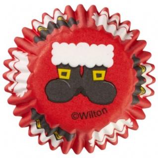 100 Muffin Mini Förmchen Weihnachtsstiefel
