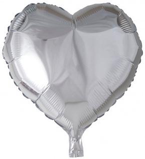 Folienballon Herz Silber 45cm