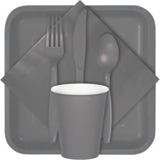 50 Dinner Servietten in Grau 40x40 cm - Vorschau 2