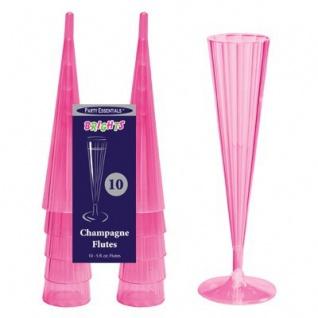 10 Champagner Becher Neon Pink - Vorschau 2
