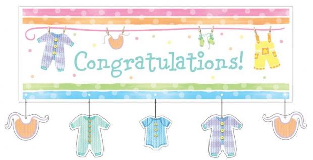 XXL Party Banner Baby Kleidung
