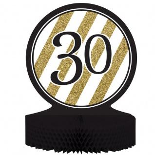 Tischaufsteller 30. Geburtstag Black and Gold