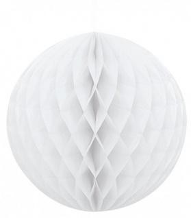 Wabenball rund weiß