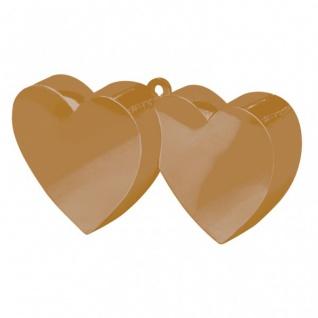 Ballongewicht Doppeltes Herz Gold