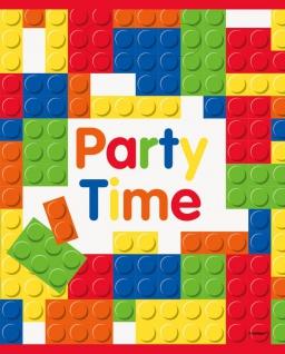 8 Party Tüten Bausteine Party