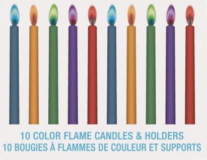 10 bunte Flammen Zauber Kerzen - Vorschau 2