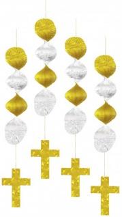 4 hängende Girlanden Kreuz