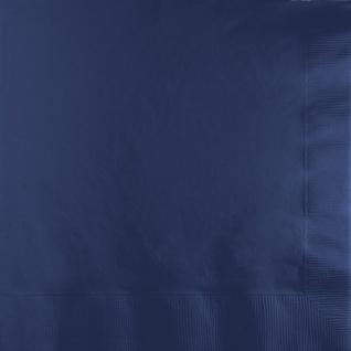 50 Servietten Marine Blau - Vorschau