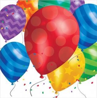 16 Servietten bunte Ballons Party