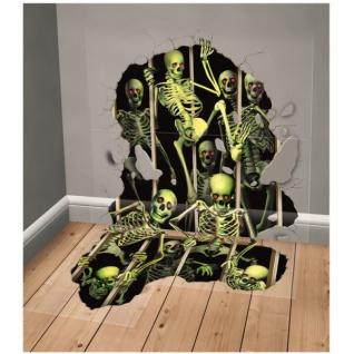 XXL Wand und Bodensticker Skelett Invasion 1, 7 x 2, 5 Meter - Vorschau