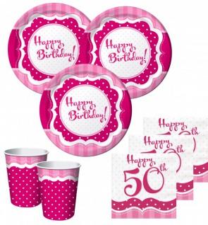 50 Teile zum 50. Geburtstag Perfectly Pink für 16 Personen