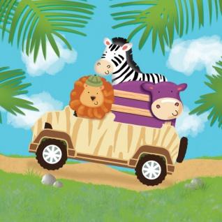 16 Servietten Safari Abenteuer