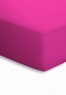 Mako-Jersey Spannbetttuch pink