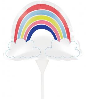 Kuchen oder Blumen Stecker Alles wird gut - Regenbogen Mini Ballon