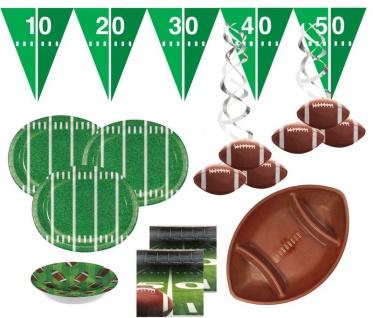 XXL 36 Teile American Football Superbowl Party Deko Set für 8 Personen