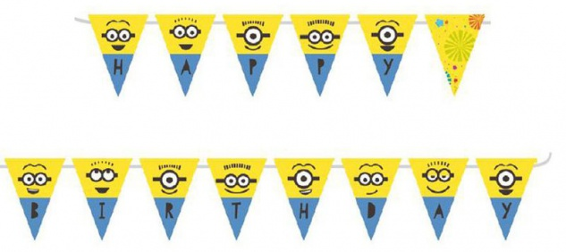 Minions Let's Party Geburtstags Girlande